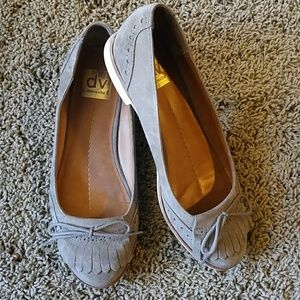 Taupe Suede Tassel Loafer Flats